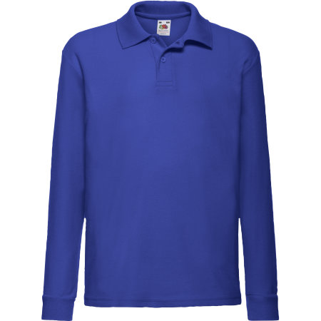 Long Sleeve 65/35 Polo Kids in Royal Blue von Fruit of the Loom (Artnum: F504K