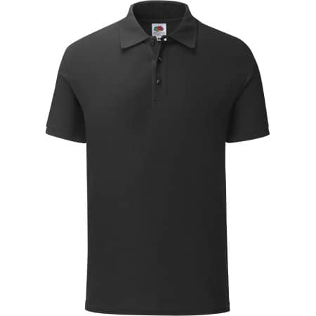 65/35 Tailored Fit Polo in Black von Fruit of the Loom (Artnum: F506
