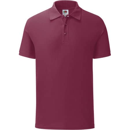 65/35 Tailored Fit Polo in Burgundy von Fruit of the Loom (Artnum: F506