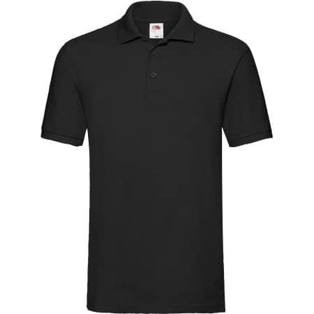 Premium Polo in Black von Fruit of the Loom (Artnum: F511N