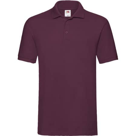 Premium Polo in Burgundy von Fruit of the Loom (Artnum: F511N