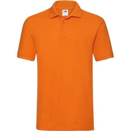 Premium Polo in Orange von Fruit of the Loom (Artnum: F511N