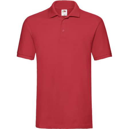 Premium Polo in Red von Fruit of the Loom (Artnum: F511N
