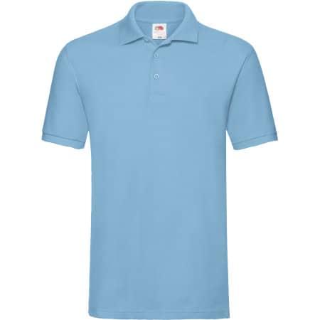 Premium Polo in Sky Blue von Fruit of the Loom (Artnum: F511N