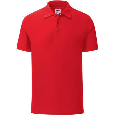 Iconic Polo in Red von Fruit of the Loom (Artnum: F512