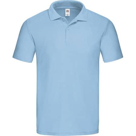 Original Polo in New Sky Blue von Fruit of the Loom (Artnum: F513