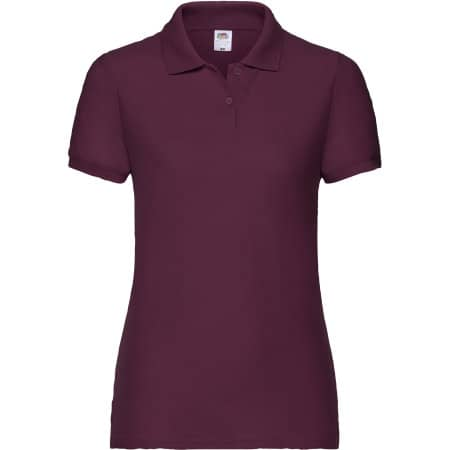 65/35 Polo Lady-Fit in Burgundy von Fruit of the Loom (Artnum: F517