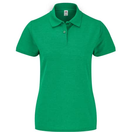 65/35 Polo Lady-Fit in Heather Green von Fruit of the Loom (Artnum: F517