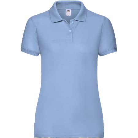 65/35 Polo Lady-Fit in Sky Blue von Fruit of the Loom (Artnum: F517