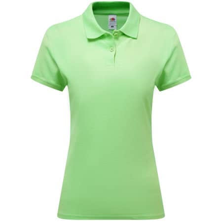 Premium Polo Lady-Fit in Lime von Fruit of the Loom (Artnum: F520