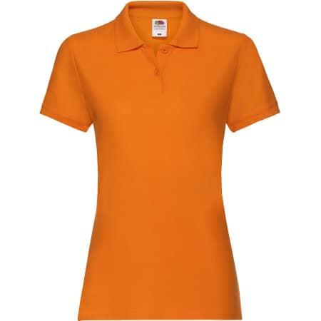 Premium Polo Lady-Fit in Orange von Fruit of the Loom (Artnum: F520