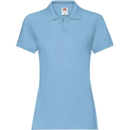 Premium Polo Lady-Fit in Sky Blue von Fruit of the Loom (Artnum: F520