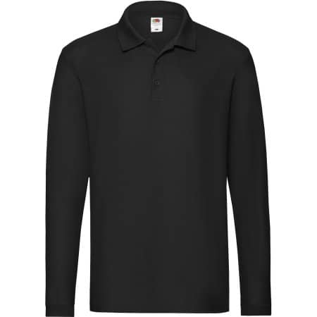 Premium Long Sleeve Polo in Black von Fruit of the Loom (Artnum: F541N
