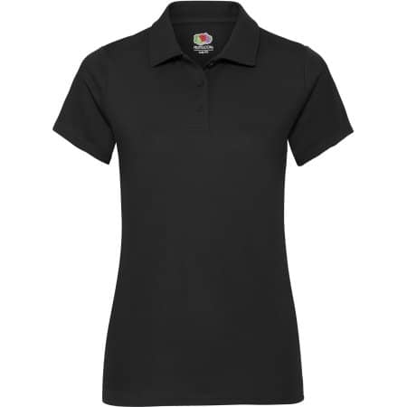 Performance Polo Lady-Fit in Black von Fruit of the Loom (Artnum: F551