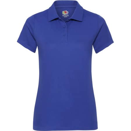 Performance Polo Lady-Fit in Royal Blue von Fruit of the Loom (Artnum: F551