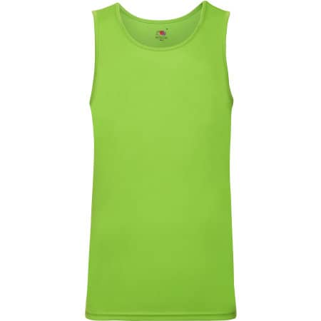 Men`s Performance Vest in Lime von Fruit of the Loom (Artnum: F552