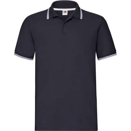 Tipped Pique Polo in Deep Navy|White von Fruit of the Loom (Artnum: F586N