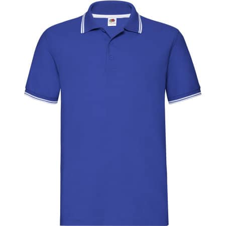 Tipped Pique Polo in Royal Blue|White von Fruit of the Loom (Artnum: F586N