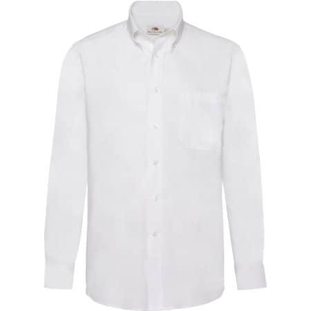 Men`s Long Sleeve Oxford Shirt von Fruit of the Loom (Artnum: F600