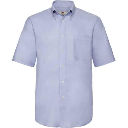 Men`s Short Sleeve Oxford Shirt in Oxford Blue von Fruit of the Loom (Artnum: F601