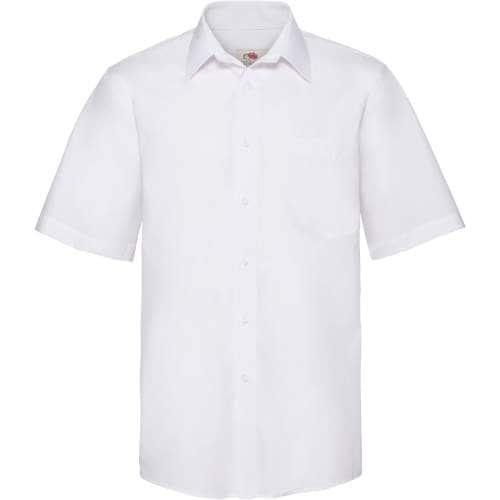 Fruit of the Loom - Men`s Short Sleeve Poplin Shirt
