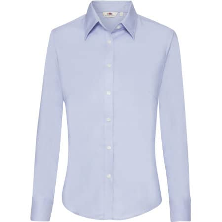 Long Sleeve Oxford Shirt Lady-Fit von Fruit of the Loom (Artnum: F700
