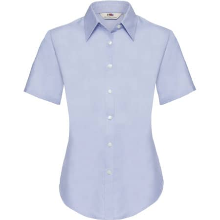 Short Sleeve Oxford Shirt Lady-Fit in Oxford Blue von Fruit of the Loom (Artnum: F701