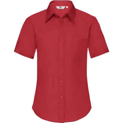 Fruit of the Loom - Short Sleeve Poplin Shirt Lady-Fit