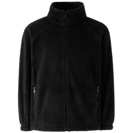 Full Zip Fleece Kids in Black von Fruit of the Loom (Artnum: F800K