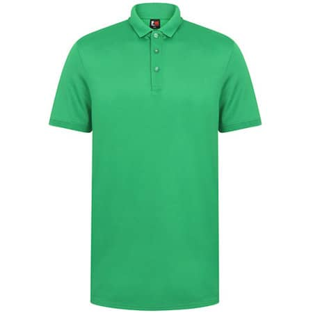Adults` Contrast Panel Polo in Kelly Green|White von Finden+Hales (Artnum: FH381