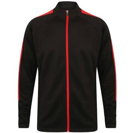 Adults Knitted Tracksuit Top in Black|Red von Finden+Hales (Artnum: FH871