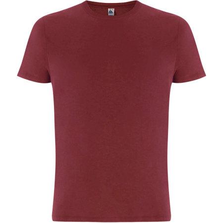 Fairshare Fairtrade Organic Unisex T-Shirt in Burgundy von Continental Clothing (Artnum: FS01