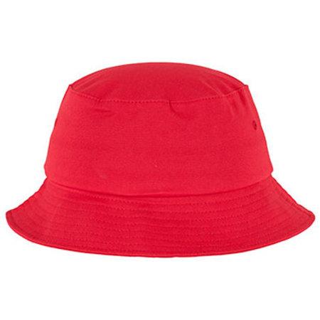 Flexfit Cotton Twill Bucket Hat in Red von FLEXFIT (Artnum: FX5003