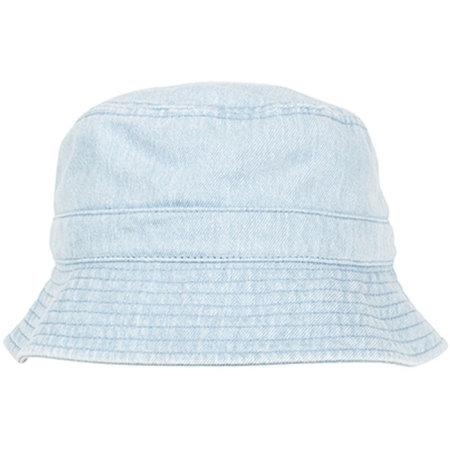 Denim Bucket Hat in Light Blue von FLEXFIT (Artnum: FX5003DB