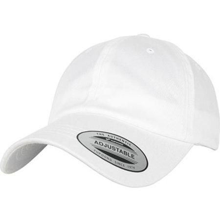 Low Profile Organic Cotton Cap in White von FLEXFIT (Artnum: FX6245OC