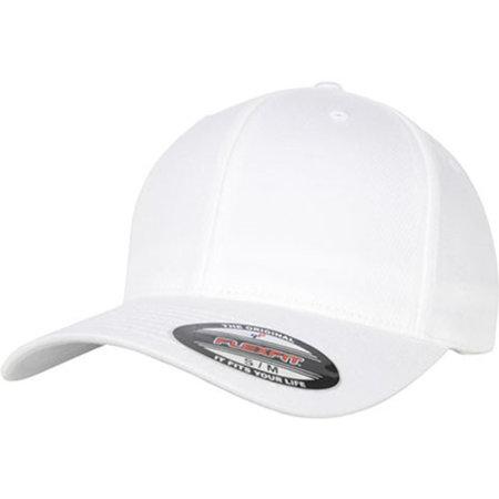 Flexfit Organic Cotton Cap in White von FLEXFIT (Artnum: FX6277OC