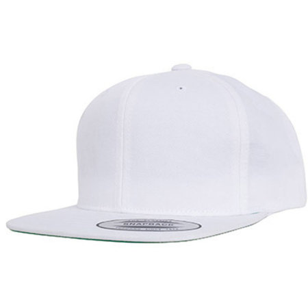 Pro-Style Twill Snapback Youth Cap in White von FLEXFIT (Artnum: FX6308