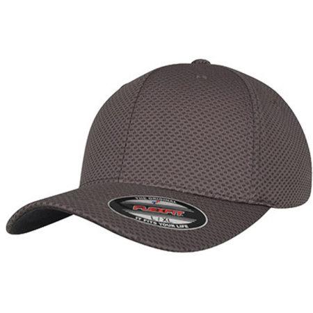 Flexfit 3D Hexagon Jersey Cap in Dark Grey von FLEXFIT (Artnum: FX6584