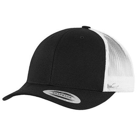 Retro Trucker 2-Tone in Black|White von FLEXFIT (Artnum: FX6606T