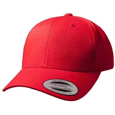 Curved Classic Snapback in Red von FLEXFIT (Artnum: FX7706