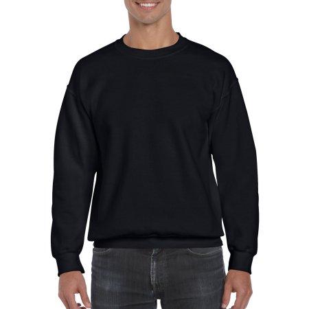 DryBlend® Crewneck Sweatshirt in Black von Gildan (Artnum: G12000