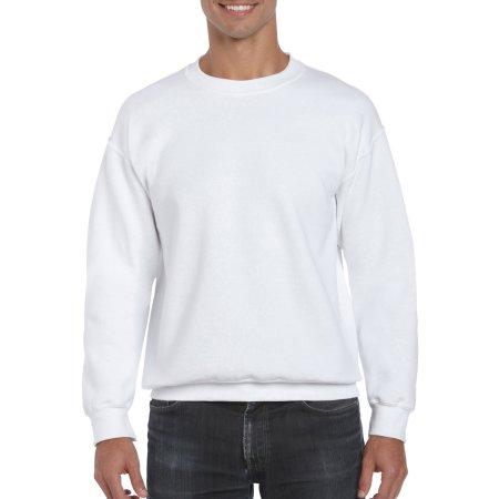 DryBlend® Crewneck Sweatshirt in White von Gildan (Artnum: G12000