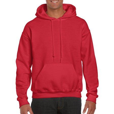 DryBlend® Hooded Sweatshirt in Red von Gildan (Artnum: G12500