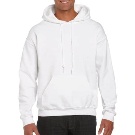 DryBlend® Hooded Sweatshirt in White von Gildan (Artnum: G12500