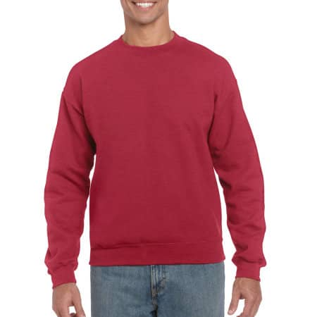 Heavy Blend™ Crewneck Sweatshirt in Antique Cherry Red (Heather) von Gildan (Artnum: G18000