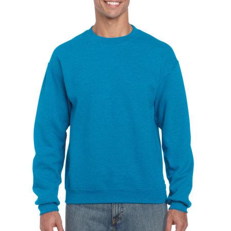 Heavy Blend™ Crewneck Sweatshirt in Antique Sapphire (Heather) von Gildan (Artnum: G18000