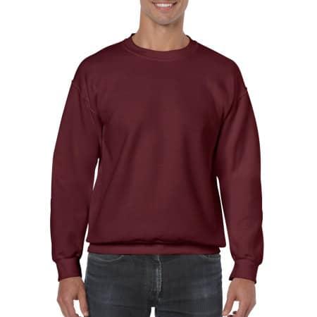 Heavy Blend™ Crewneck Sweatshirt in Maroon von Gildan (Artnum: G18000
