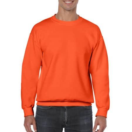 Heavy Blend™ Crewneck Sweatshirt in Orange von Gildan (Artnum: G18000
