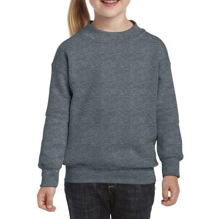 Heavy Blend™ Youth Crewneck Sweatshirt in Dark Heather von Gildan (Artnum: G18000K