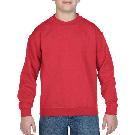 Heavy Blend™ Youth Crewneck Sweatshirt in Red von Gildan (Artnum: G18000K